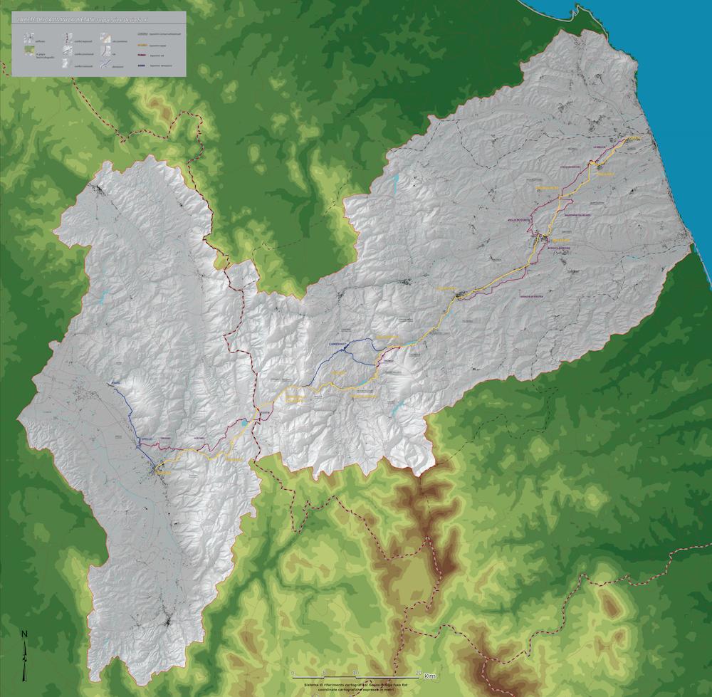 Via Lauretana - mappa